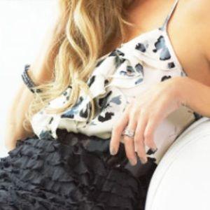 LC Lauren Conrad Tops - Lauren Conrad Cascading Rose Cami