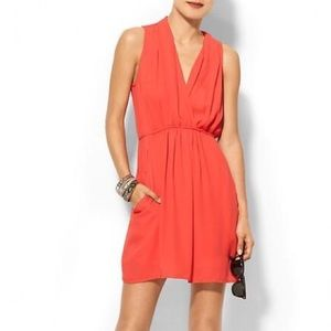 Collective Concepts Tie Back Dress in Coral