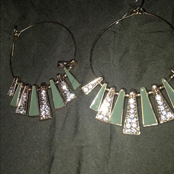 7 versona jewelry versona hoop rhinestone earrings