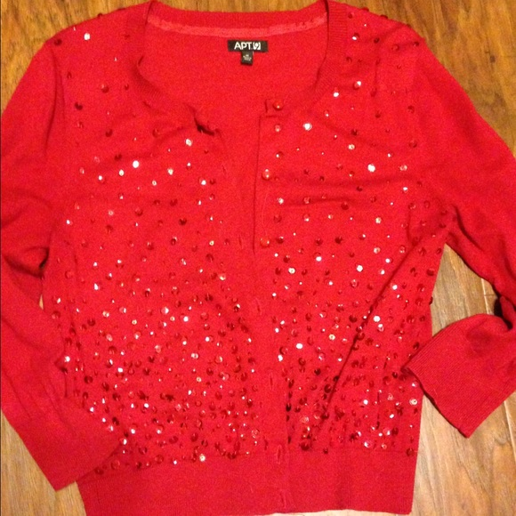 61% off Apt. 9 Sweaters - Festive Red Sequin Cardigan from ...