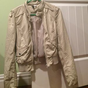H&M tan leather jacket