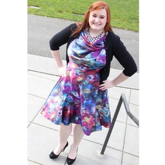 Suzi Chin For Maggy Boutique Dresses Watercolor Silk Dress Plus