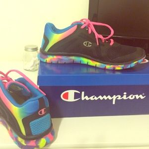 black and rainbow champion shoes off 55