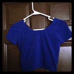 American apparel royal blue baby crop tee