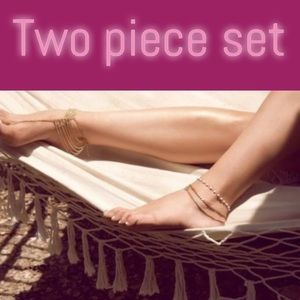 RIS Other - Two-piece set ankle bracelet /toe chain MARK DOWN