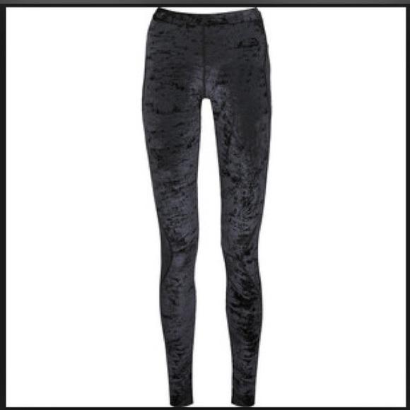 Black Velvet Leggings - Baggage Clothing