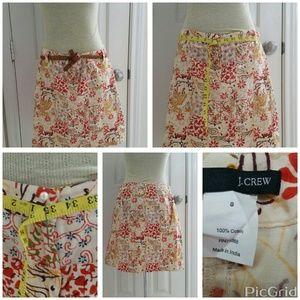 J.Crew guilted pencil skirt size 8 multi color EUC