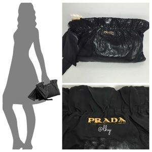PRADA ANTIK GATHERED BOW CLUTCH