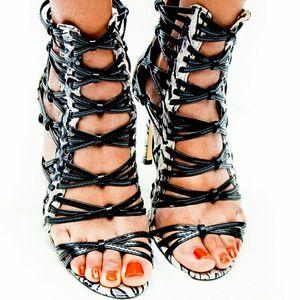 2 for $30 Black white heels