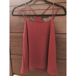 Tops - NWOT Strappy Burgundy Blouse