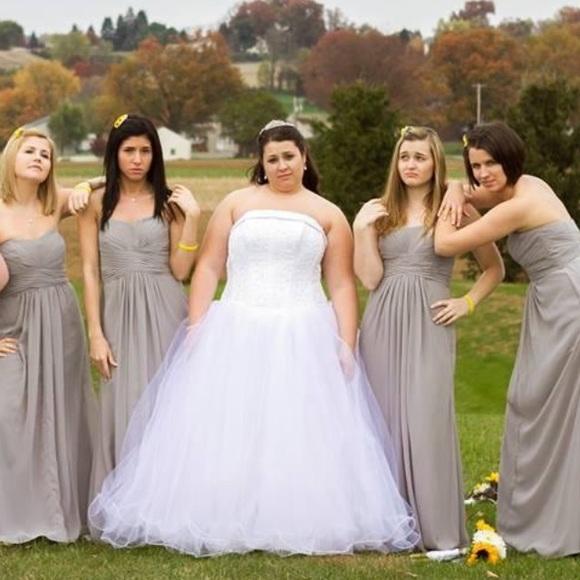 19ec852c8fb7 Davids bridal Dresses | Grey Formal Dress | Poshmark