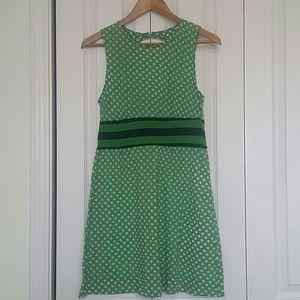 Free People Green and White Polka Dot Dress