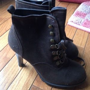 Shoes - Chocolate high heel booties