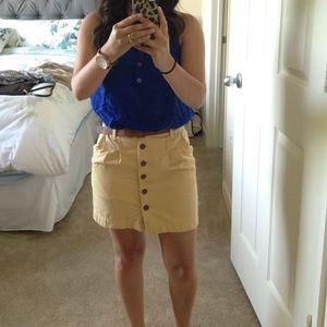 Yellow skirt (waist 24) belt not included