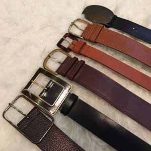 100% Leather Belts - bundle or individual listing