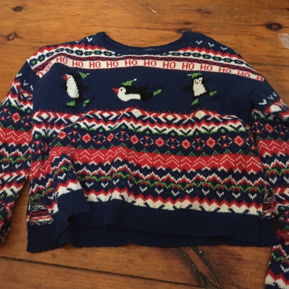 Surprising 60 Off Hollister Sweaters Hollister Crop Christmas Sweater Size Easy Diy Christmas Decorations Tissureus