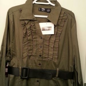 Dresses & Skirts - Army green shirt dress