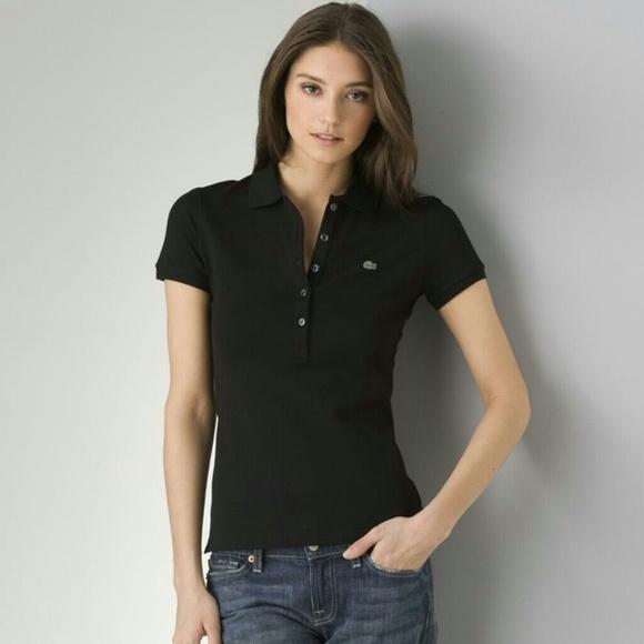 Womens Lacoste Pique Polo Size 34 - Small