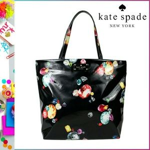 💯Auth Kate spade King's Jewels Bon shopper tote