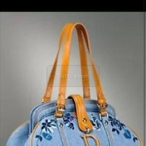Handbags - ISO dior embroidered denim handbag