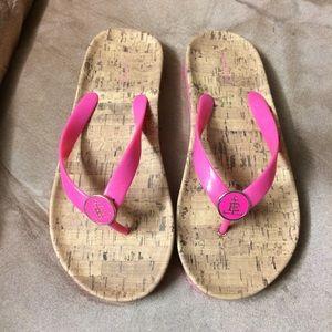 Lands end pink flip flop
