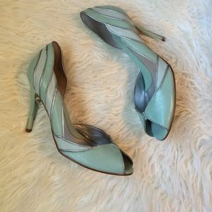Guess Shoes - Vintage Mint Green D'orsay Pumps with Silver.