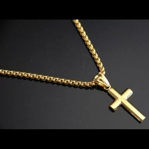 Jewelry - Men women stainless steel Gold chain pendant ef6141af56