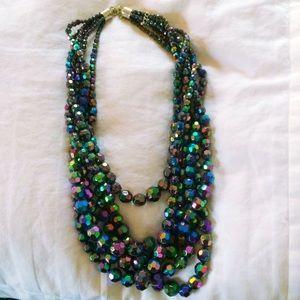 SALE Jewelry - Black Iridescent Statement Necklace 💜
