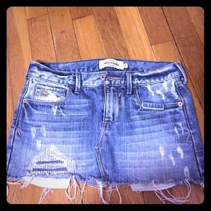 Other - distressed jeans skirt