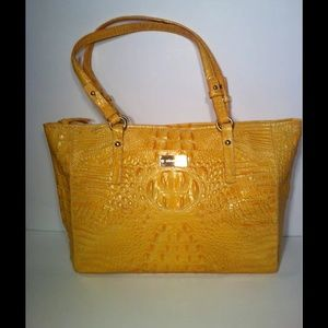 Brahmin Handbags - Brahmin Arno yellow medium tote NWOT