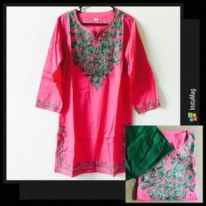 Dresses & Skirts - Bollywood Style Embroidered Top with Pants
