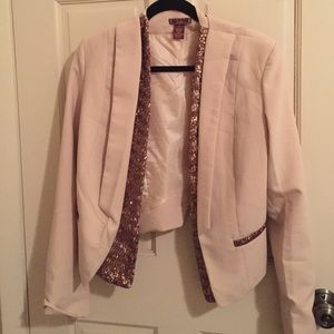 Blush Pink Blazer with Sequin Details