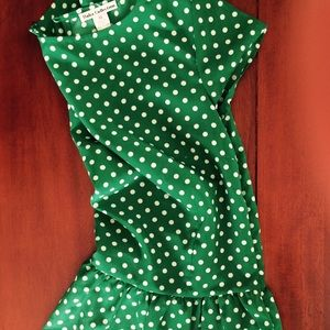 Tops - Green Polka Dot Top