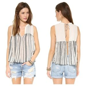 Free People Embroidery Open Back Tank