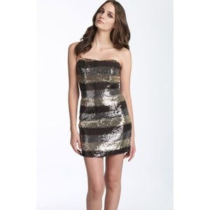 A.B.S. Silver Gray Sequin Dress