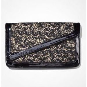EXPRESS LACE EMBELLISHED ENVELOPE CLUTCH