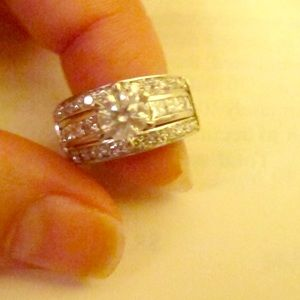 Jewelry - Wedding ring set 14K white gold 2carat total