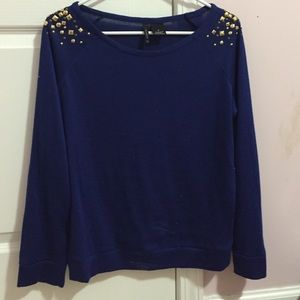 Sweaters - Royal blue shirt