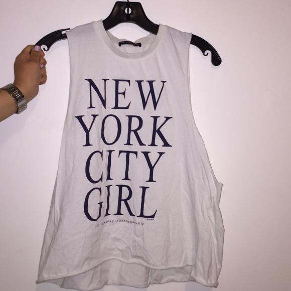 Brandy Melville Tops - Brandy Melville New York City Girl Tank Shirt 8da0831fa4b