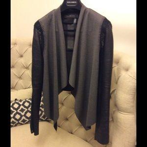 Stella & Jamie leather sleeve jacket