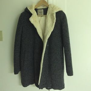 Reduced priceFur Overcoat in Grey