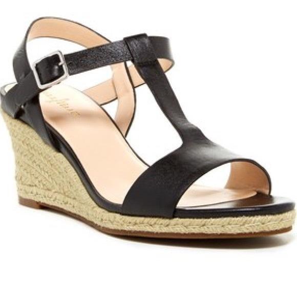 d5ab8457c21 Cole Haan Shoes - Cole Haan black Elizabeth wedge sandals leather