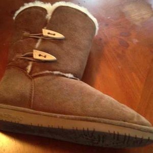BEARPAW Abigail Brown Suede  Boots SZ 10