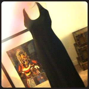 Special occasion Long Jersey knit Black gown