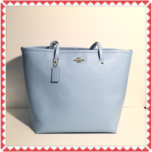coach bags on sale outlet ogvj  blue coach tote bag