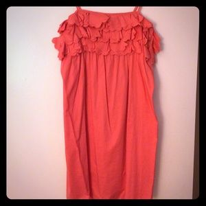 J. Crew - Pink Ruffle Dress