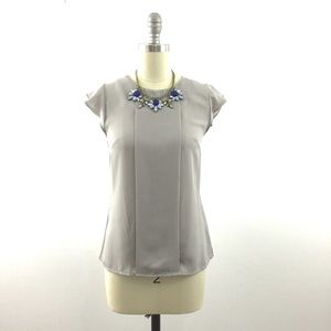 Tops - NEW Dove Gray Loose Fit Blouse Top