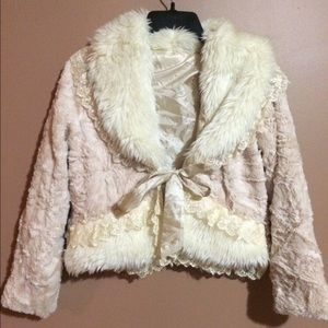 Vintage Faux Fur Cropped Jacket