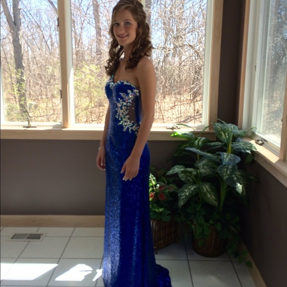 Dresses Royal Blue Sequin Prom Dress Poshmark