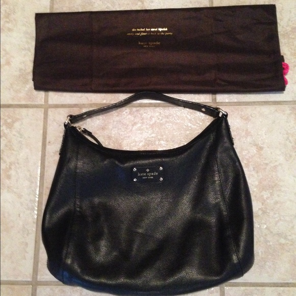 3c2f7f0b85 Kate Spade Black Pebbled Leather Handbags | Stanford Center for ...